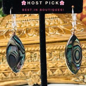 Jewelry - 🌸HP!!🌸Silver/Abalone Earrings